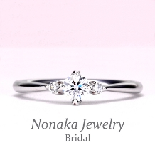 NONAKA JEWELRY(ノナカジュエリー)_【可愛いハート型の爪】のシンプルデザイン高品質婚約指輪 プラチナ