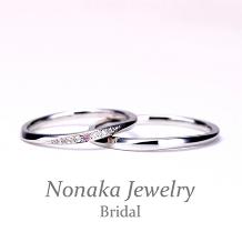 NONAKA JEWELRY(ノナカジュエリー)_【ピンクダイヤ♪リーズナブル】細身のプラチナリング※スーパーハードPtで作製可能