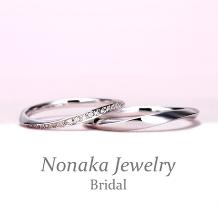 NONAKA JEWELRY(ノナカジュエリー)_女性用は【細くて緩やかなカーブデザインのエレガントな高級ハーフエタニティリング】
