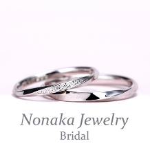 NONAKA JEWELRY(ノナカジュエリー)_立体感のある斜めラインが魅力的、プラチナ製のお手頃な結婚指輪