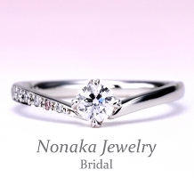 NONAKA JEWELRY(ノナカジュエリー)_【重ね着け人気No.1】【ピンクダイアとハート型の爪がキュート】な高級婚約指輪