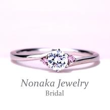 NONAKA JEWELRY(ノナカジュエリー)_【スーパーハードプラチナ,H&Cメレダイア】優しいウェーブデザインの高級婚約指輪