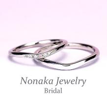 NONAKA JEWELRY(ノナカジュエリー)_創業35周年記念特別価格【ピンクダイヤが可愛い】スーパーハードプラチナ結婚指輪