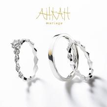HARADA BRIDAL(ハラダ ブライダル):個性のきらめき溢れるリング☆ AHKAH(アーカー)ロサンジュマリッジリング