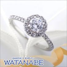 WATANABE/卸商社直営 渡辺:[WATANABE]指元でまるでお花が咲きほこる様なキュートなリング