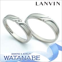 WATANABE/卸商社直営 渡辺:【嬉しい卸直営価格はお問合せ下さい】ランバン(LANVIN)マリッジリング