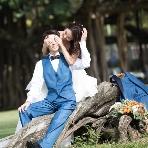 ワタベウェディング:♪緑溢れる公園でとっておきの一枚を♪【洋装ロケ撮影20,304円】♪♪