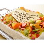 イタリア料理 北新地 a freak(ア・フリーク):季節のフルーツをイッパイに敷き詰めた人気のウェディングケーキ。インスタ映え間違いなし。