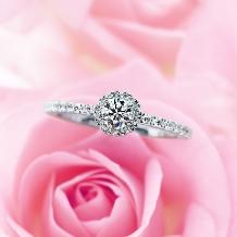 ウエディングジュエリー博泉堂(はくせんどう)_『ブーケ*。』バラのブーケをイメージしたロマンチックなデザイン*。