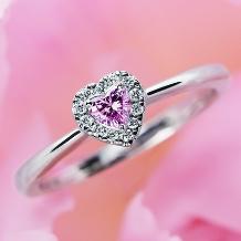 ウエディングジュエリー博泉堂(はくせんどう)_≪ハートカットのピンクダイヤ≫ネックレスへの変更もOK★いつも胸元に輝きを*。
