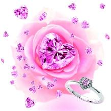 ウエディングジュエリー博泉堂(はくせんどう)_『heart*。』-ピンクダイヤ-ここだけで出逢える一目惚れリング*。
