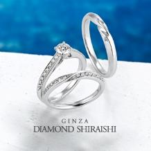 銀座ダイヤモンドシライシ:独自のセッティングにより、一層ダイヤモンドの輝きを引き立たせる【ジュノー】