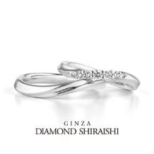 銀座ダイヤモンドシライシ:シェル ヴィーナス YG(マリッジリング)
