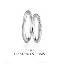 銀座ダイヤモンドシライシ_ブーケのリボンが一周巻き付いており、永遠の結びつきを表す【ブーケ】