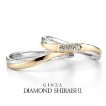 銀座ダイヤモンドシライシ:フェリーチェ 3ML(マリッジリング)