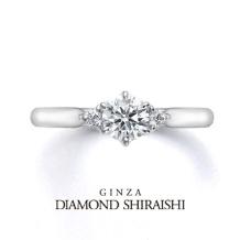 銀座ダイヤモンドシライシ:お花をナチュラルに丸く束ねたブーケをイメージした【ブーケ ロココ】