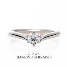 銀座ダイヤモンドシライシ:羽のように繊細で立体感のある婚約指輪【プリュマージュ チェリッシュ】