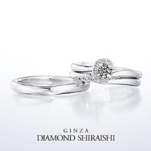銀座ダイヤモンドシライシ:★NEW★一緒にいると、もっと輝くふたりの未来。【イリュミティ】マリッジリング