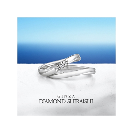 銀座ダイヤモンドシライシ:フェリーチェ 5M,5LD(マリッジリング)