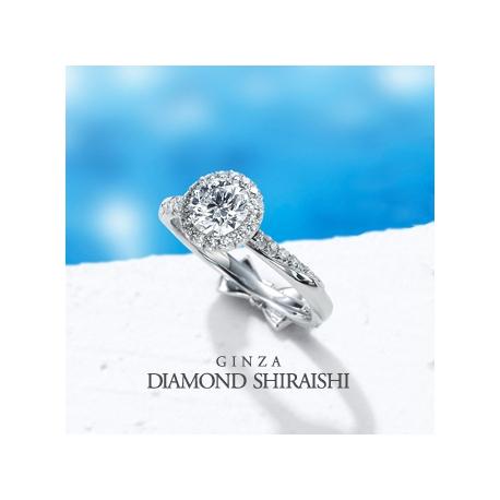 銀座ダイヤモンドシライシ:センターダイヤを大きくみせるために、爪は極限まで小さく【ブーケ<C枠>】