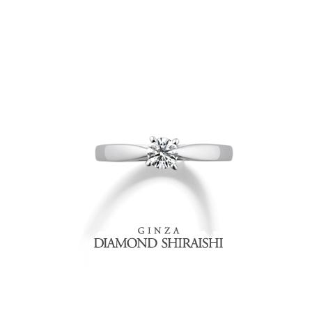 銀座ダイヤモンドシライシ:光沢のある艶やかなプラチナが凛とした印象【ディアナディー】