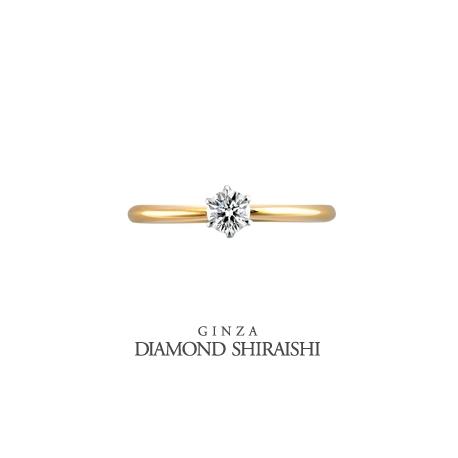 銀座ダイヤモンドシライシ:ダイヤモンドがキレイに見える様にコンビの枠の石座はPT【スマイリング デイジー】