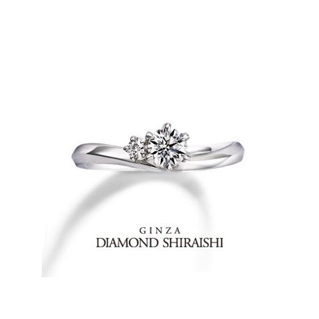 銀座ダイヤモンドシライシ:センターダイヤはサイドメレがあることでより美しく、大きく輝きます【プロミティア】