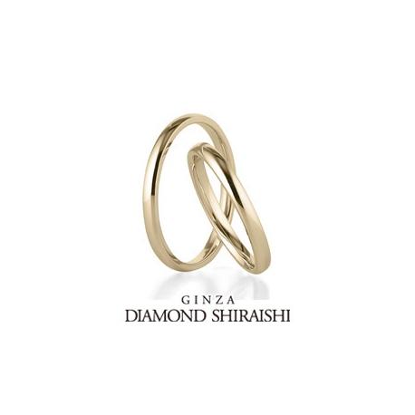銀座ダイヤモンドシライシ:シンプルで飽きの来ない結婚指輪【OR(オーアール)YG】