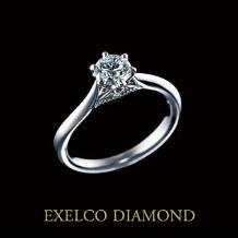 エクセルコダイヤモンド:【エクセルコ】指に馴染む部分のミル打ちはファーストステージを表現『セレモニー』