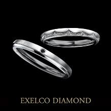 エクセルコ ダイヤモンド_【エクセルコ】メレダイヤとミル打ちが繋がり1本に連なる『ルヴォワール』