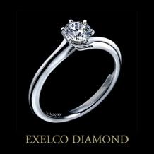 エクセルコ ダイヤモンド_【エクセルコ】指を優しく包む翼をイメージしたリング『マリアージュオワゾー』