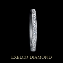 エクセルコ ダイヤモンド_【エクセルコ】輝く七色の光を、ダイヤが煌めくリングで表現『ディスパーション03』