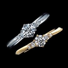 エクセルコダイヤモンド:【エクセルコ】アンティーク調のミル打ちがわらかい印象『コロネット YG』