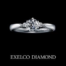エクセルコダイヤモンド_【エクセルコ】王冠を表現したリング『エリザベート フィーヌ』