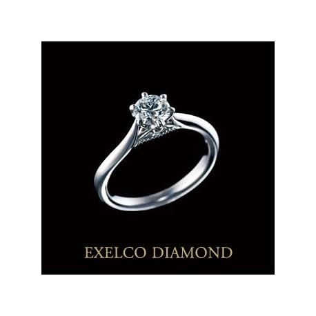 エクセルコ ダイヤモンド:【エクセルコ】指に馴染む部分のミル打ちはファーストステージを表現『セレモニー』