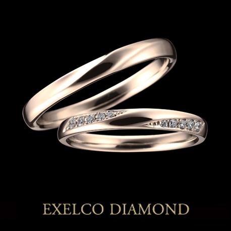 エクセルコダイヤモンド:【エクセルコ】シャンテ 3ML PG(マリッジリング)
