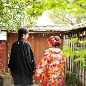 ブライダルハウス「写樂庭」(あけぼのスタジオ):【敷居内の庭園で撮影できる!】話題の和装撮影相談会