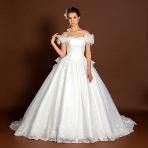 天使の工房 アトリエアン atelier ange:【アトリエアン】やわらかチュール×ボリュームスカートが可愛いウエディングドレス