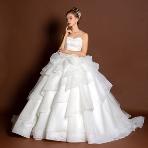 天使の工房 アトリエアン atelier ange:【アトリエアン】2way×オーガンジー×ボリューミーウエディングドレス