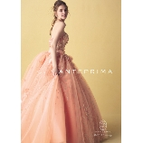 BRIDES(ブライズ):【☆最新作☆】 胸元のフラワーとアプリコットオレンジのトレンド色でおしゃれ花嫁に