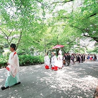 名古屋迎賓館 The Bankers Club (ザ・バンカーズ クラブ):【本格和婚】那古野神社や護國神社の神社式×試食会