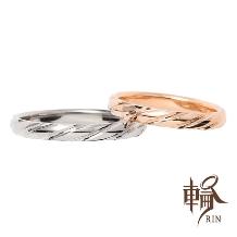輪‐RIN‐_さりげなさが人気!!!鏡面に施されたカットがキラキラ輝く細身リング