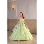 Mai BRIDE(マイブライド):エアリーなチュールでふんわりキラキラカラードレス