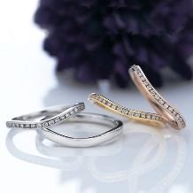 タカラ堂:【ロイヤル・アッシャー・ダイヤモンド】自然と指に馴染む、カーブを描くエタニティ