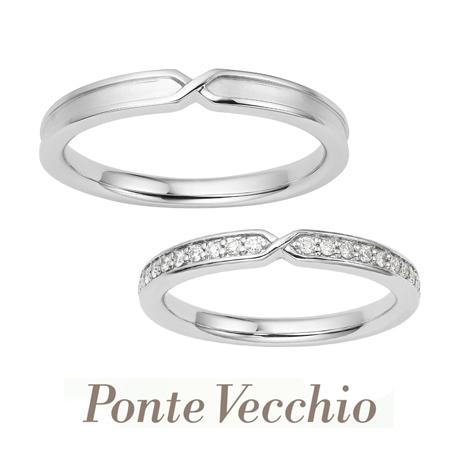 タカラ堂:【ポンテヴェキオ】手をつなぐ、幸せなふたりをイメージした結婚指輪「プロメッサ」