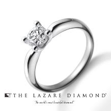 ハーティーハート by ITOI_~ITOI~【ラザールダイヤモンド】4本爪の愛らしいデザイン