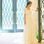 maruichi(マルイチ):ジョーゼットの素材がやさしいスレンダードレス