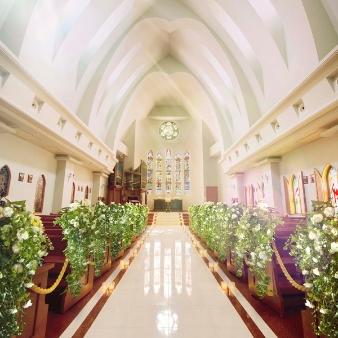 セントミッシェル ガーデンウェディング:<ギフト1万円付>県内最大級大聖堂&ガーデン見学*2万円試食