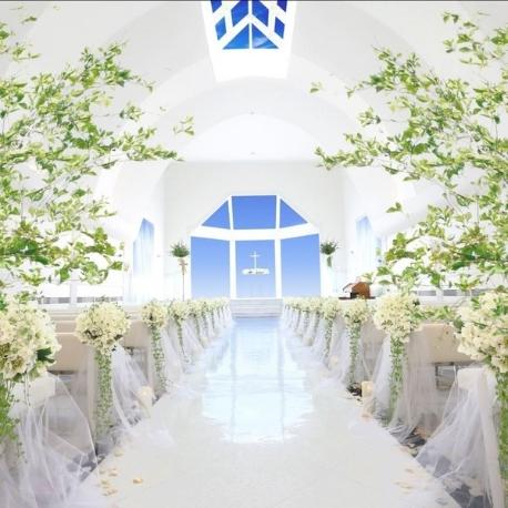 ア・ヴェール・ブランシェ:【花嫁大人気♪ドレス特典付】天空チャペル体験&無料☆贅沢美食