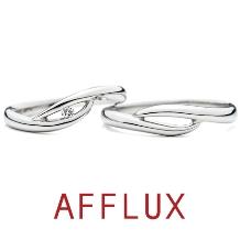 RAFFINE HIRATA(ラフィーネヒラタ)_寄せ波をモチーフしたデザイン ~ゆびわ言葉:想いつづける~【AFFLUX】サーフ